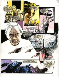 Battlestar Galactica: Original artwork approximately A2 (540mm x 420mm)
